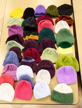 Purls of Wisdom Hats Jan12