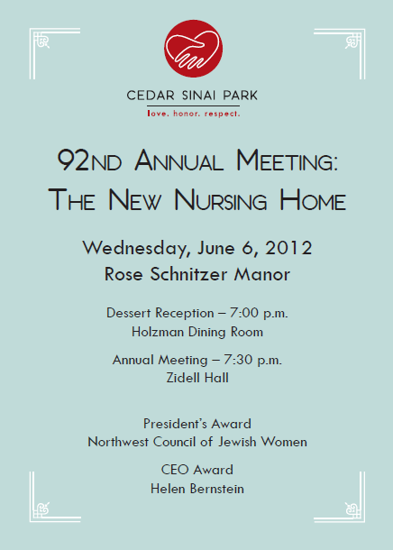 Us at the 92nd cedar sinai park annual meeting cedar sinai park blog